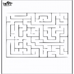 Bricolage coloriages - Labyrinthe 2