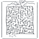Bricolage coloriages - Labyrinthe Dalmatien