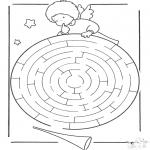 Bricolage coloriages - Labyrinthe de lange