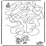 Bricolage coloriages - Labyrinthe - Dora
