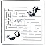Bricolage coloriages - Labyrinthe mouffette