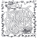 Bricolage coloriages - Labyrinthe sous-marin