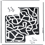 Bricolage coloriages - Labyrinthe vers