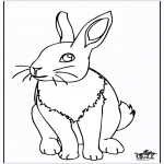Coloriages d'animaux - Lapin 4
