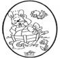 Lapin de Pâques - Dessin à piquer 1