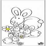 Coloriages d'animaux - Lapins 2