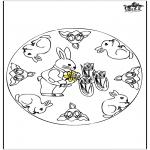 Coloriage thème - Lapins de Pâques