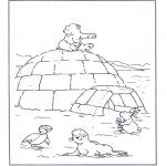 Coloriages pour enfants - Lars avec ses petits copains