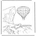 Coloriages pour enfants - Lars avec un ballon
