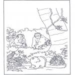 Coloriages pour enfants - Lars dans la jungle