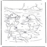 Coloriages pour enfants - Lars et les morses