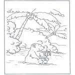 Coloriages pour enfants - Lars mange