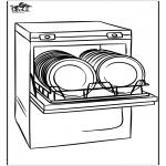 Coloriages faits divers - Lave-vaisselle