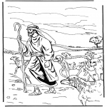 Coloriages Bible - Le Berger