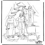 Coloriages Bible - Le boulanger égyptien