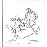 Personnages de bande dessinée - Le lapin blanc