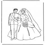 Coloriage thème - Le mariage 1