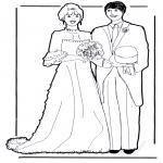 Coloriage thème - Le mariage