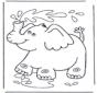 Le petit éléphant s'arrose