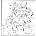 Personnages de bande dessinée - Le prince et Cendrillon