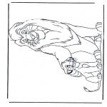 Personnages de bande dessinée - Le Roi Lion 1
