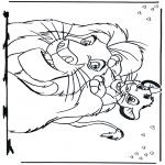 Personnages de bande dessinée - Le Roi Lion 2
