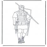 Coloriages faits divers - Le soldat romain 1