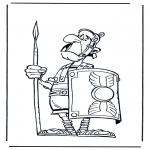 Coloriages faits divers - Le soldat romain 2