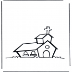 Coloriages Bible - L'eglise 1