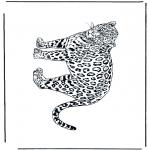 Coloriages d'animaux - Léopard 2