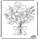 Coloriages faits divers - Les Fleurs 1