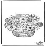 Coloriages faits divers - Les Fleurs 2