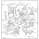 Coloriages faits divers - Les sept Chevreaux