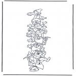 Personnages de bande dessinée - Les sept nains