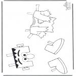 Bricolage coloriages - Les vêtements d'Elmo 1