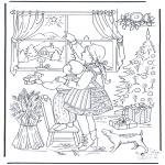 Coloriages Noël - L'etoile de Noël