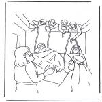 Coloriages Bible - L'homme paralysé 1