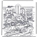Coloriages Bible - L'homme paralysé 2