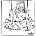 Coloriages Bible - L'homme paralysé 4