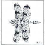 Coloriages d'animaux - Libellule 2