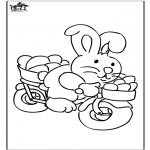 Coloriage thème - Lièvre de Pâques 19