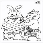 Coloriage thème - Lièvre de Pâques 20