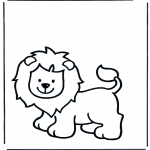 Coloriages d'animaux - Lion 1