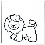 Coloriages d'animaux - Lion 1