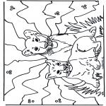 Coloriages d'animaux - Lionceaux