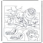 Coloriages d'animaux - Lions 1
