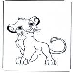 Coloriages d'animaux - Lions 4