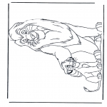 Coloriages d'animaux - Lions 5