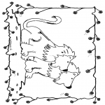 Coloriages d'animaux - Lions 6