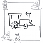 Coloriages faits divers - Locomotive 1